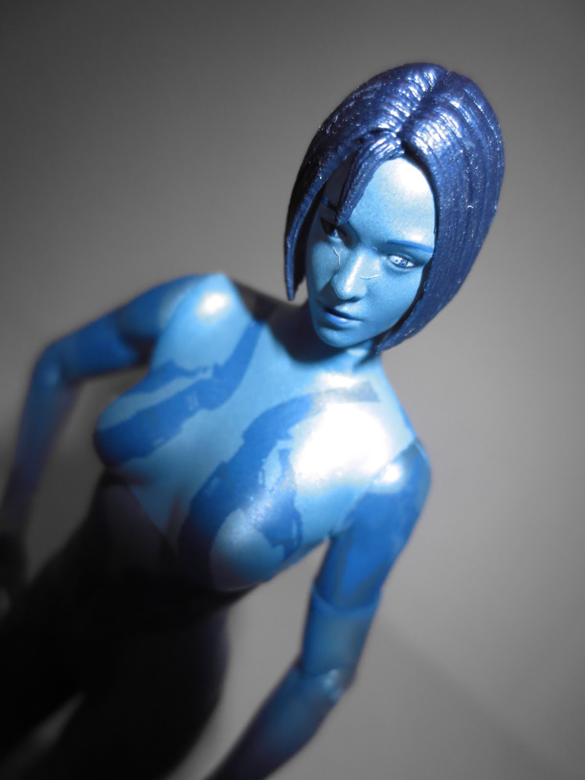 Cortana cosplay body paint