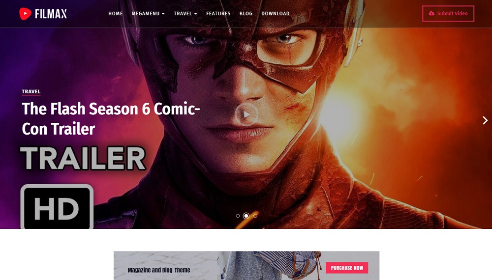 Filmax - Responsive Movie Blogger Template