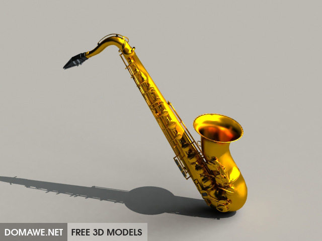 DOMAWE net: Tenor Saxophone - Free 3D Model Instrument