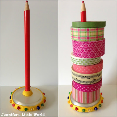 Sugru beaded washi tape storage craft
