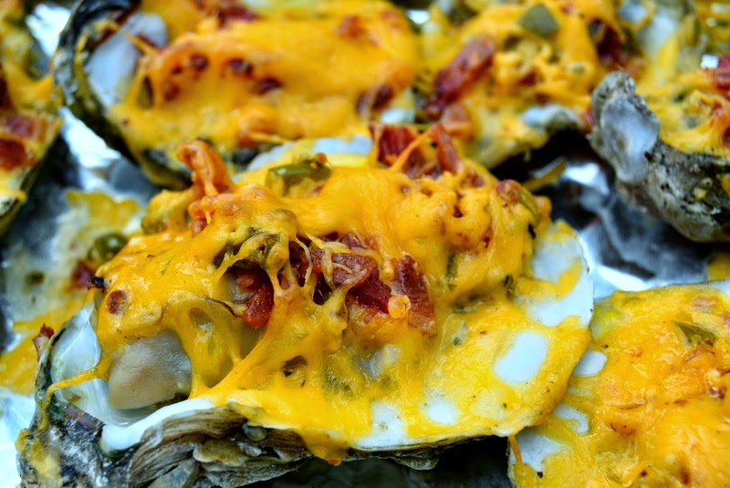 RV-A-GOGO: Jalapeno, Bacon, and Cheddar Baked Oysters