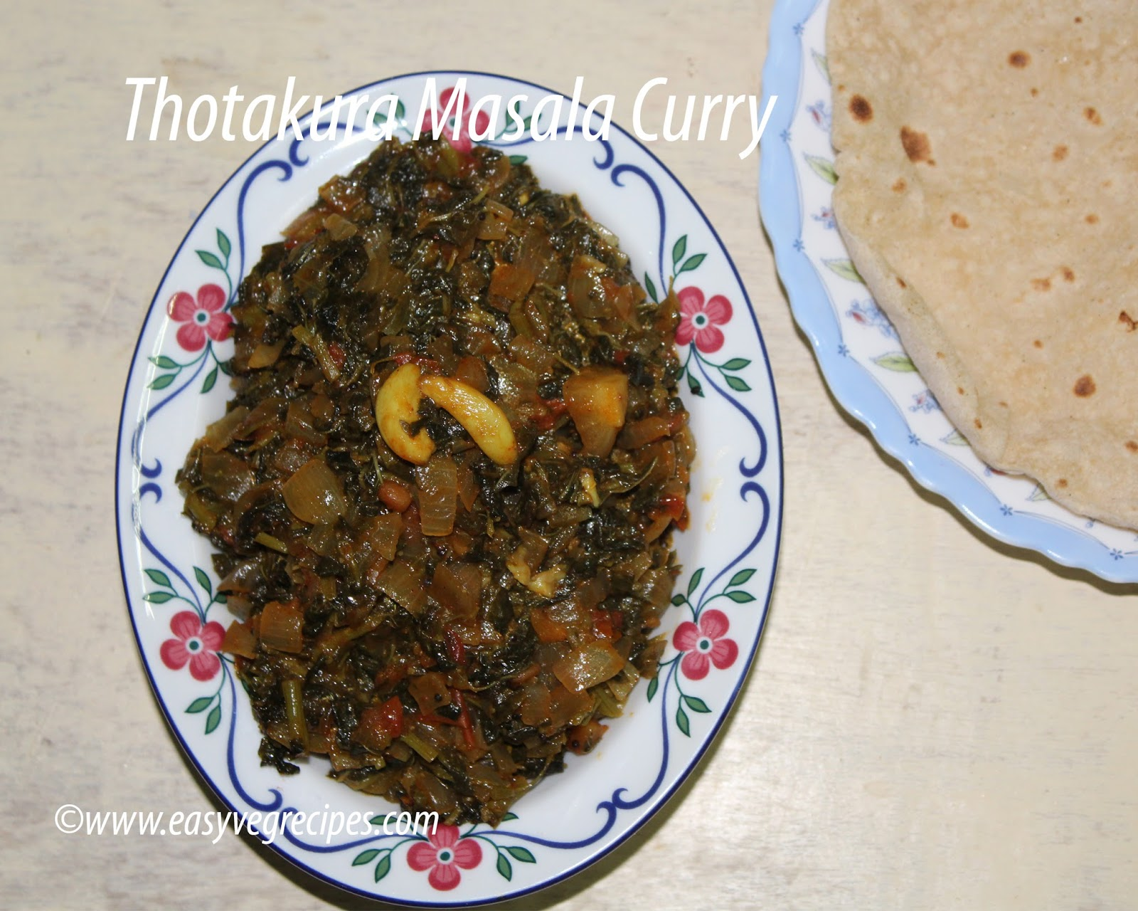 Thotakura Masala Curry
