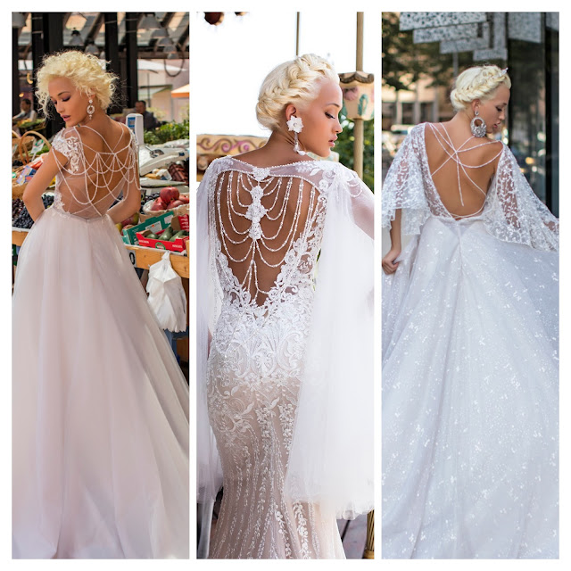 Backless wedding gown, Sexy wedding gown,