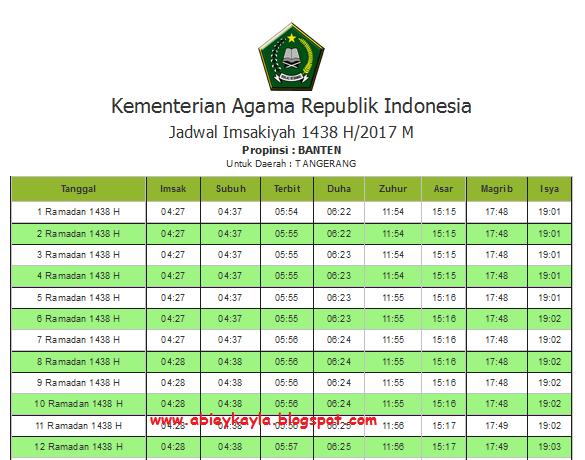 Jadwal Imsakiyah Ramadhan 1428 H Tahun 2017 Untuk Wialayah Jakarta dan Sekitarnya