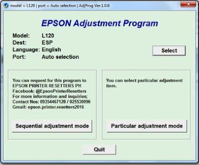 Reset Epson l120