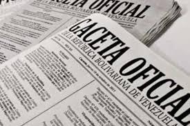 Véase SUMARIO Gaceta Oficial N° 41.425 22 de junio de 2018