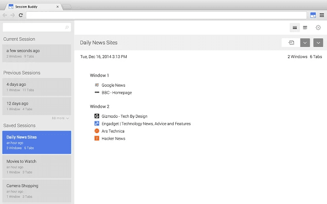 Download Session Buddy CRX Extension for Chrome Available