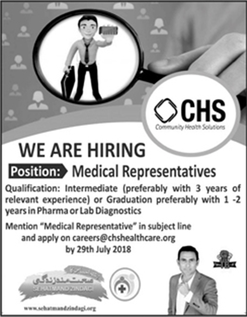 Jobs In Community Health Solutions 24 July