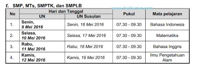 POS UN 2016 dan Jadwal UN SMP/MTs, SMA/MA dan SMK tahun 2016, POS 2016, Jadwal UN 2016 img