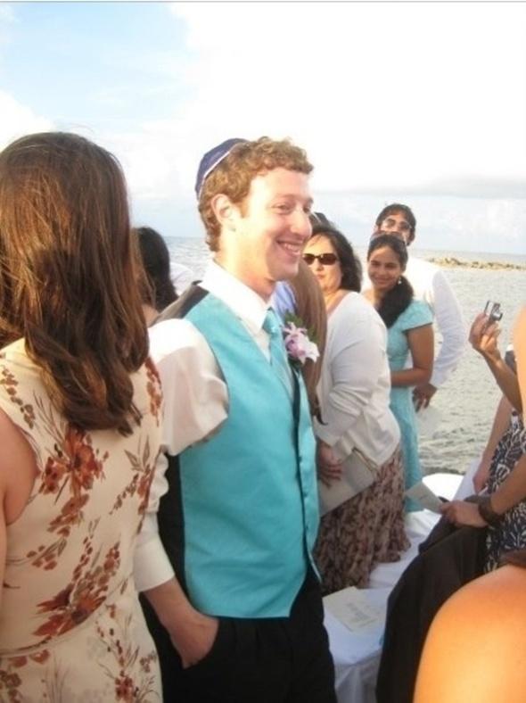Gambar Pengasas Facebook Mark Zuckerberg Berkopiah Yahudi