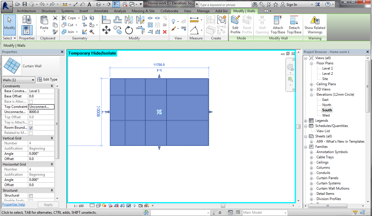 Tortilla Revit How To Create Curve Or Angled Mullion On