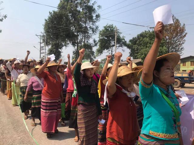 ၿဖိဳးသီဟခ်ဳိ (Myanmar Now) ● အဆိပ္သင့္ၿမိဳ႕ကို ကယ္တင္ရန္ ရွမ္းျပည္နယ္ေဒသခံတို႔ ေတာင္းဆို
