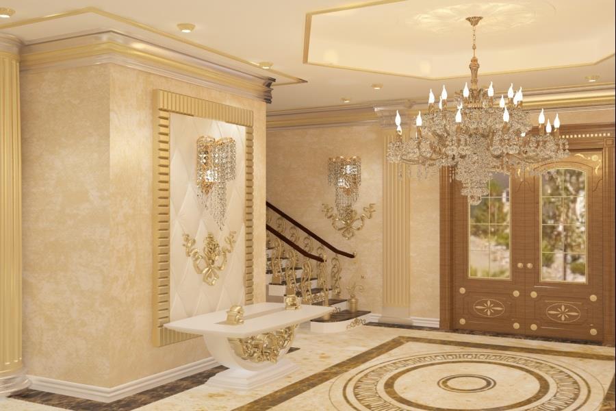 Amenajare living stil clasic de lux Bucuresti - Amenajari interioare vile clasice.