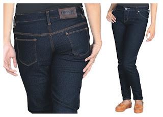 Celana Jeans Wanita Terbaru Biru Dongker