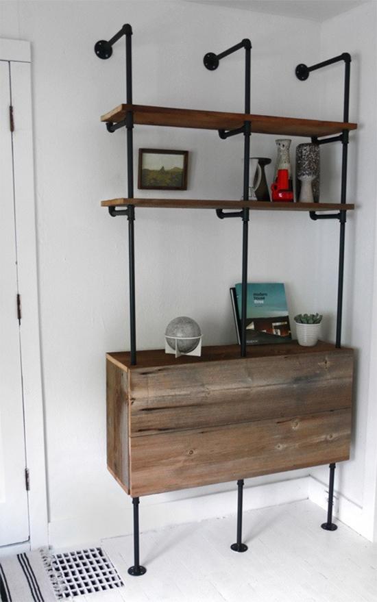 estante industrial chique, estante com cano, pipe shelves, estante, faça você mesmo, diy, a casa eh sua, acasaehsua, móvel, armário