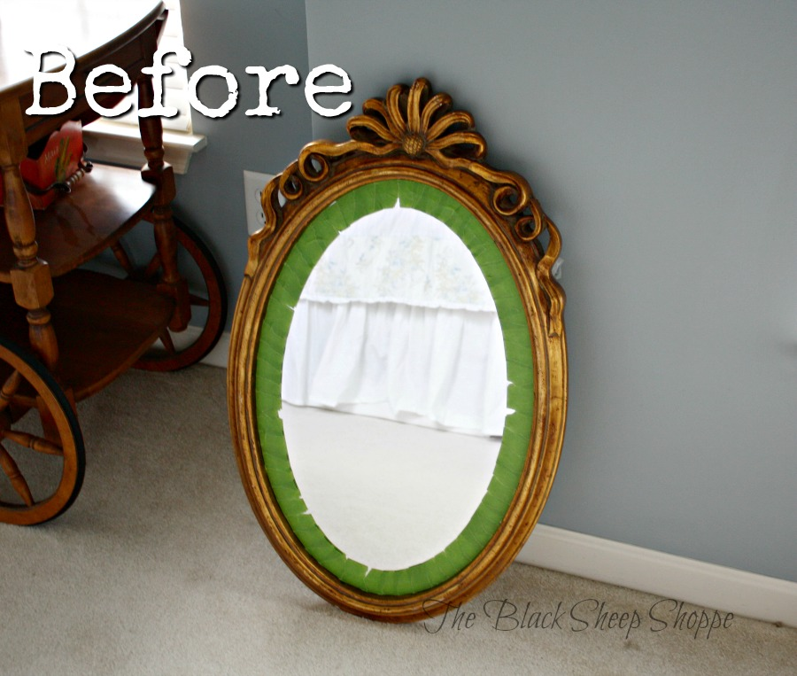 Oval mirror before.
