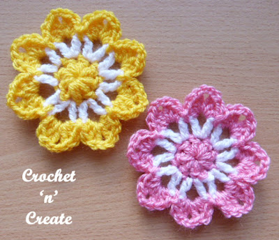 crochet pretty flower