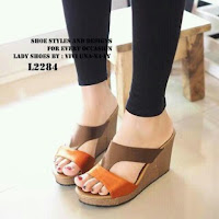 WEDGES WANITA TBP1049 TAN