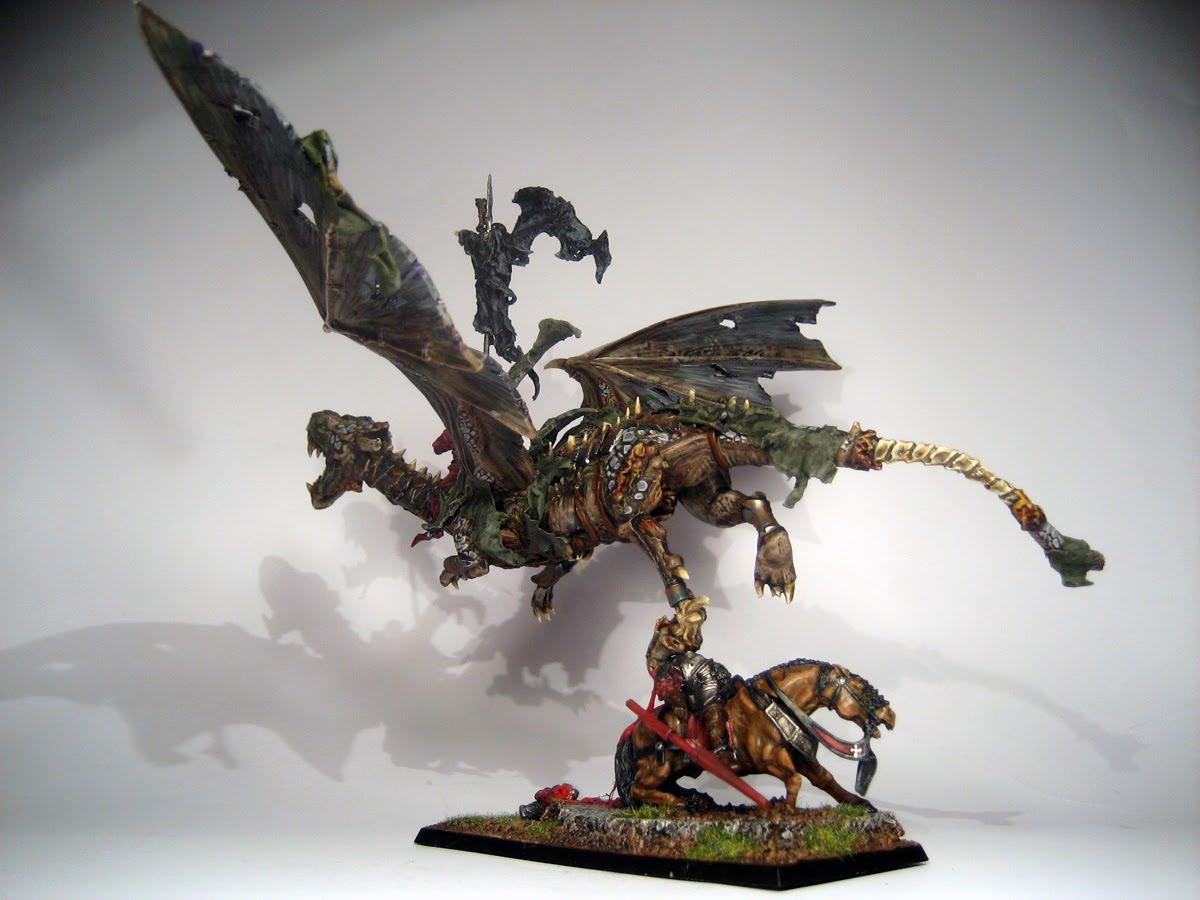 Miniatures Art Team: vampire lord on zombie dragon