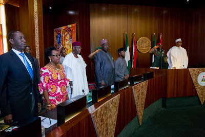 Nigeria Federal Government executive council meeting pictures