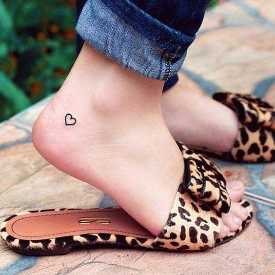 Heart tattoos on heels