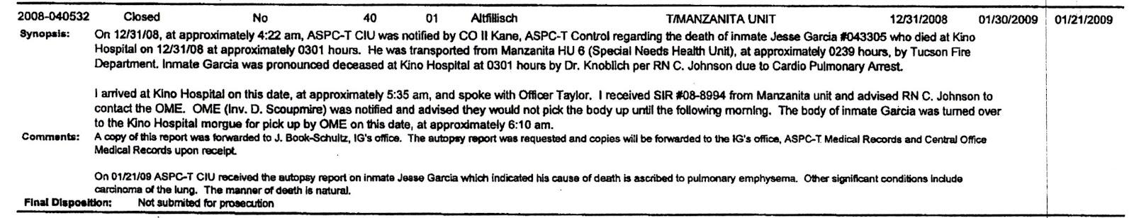 Arizona Prison Watch: July 2012