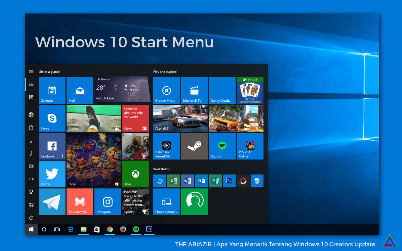 Windows 10 Creators Update: Start Menu