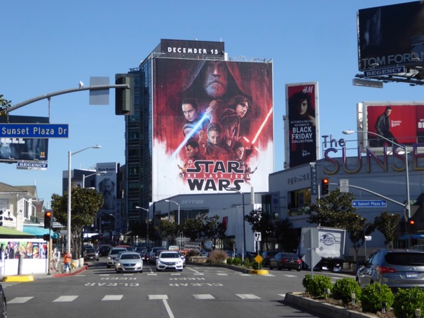Giant Star Wars Last Jedi film billboard