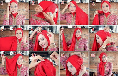 Tutorial Hijab Simple Turban, Tutorial Hijab Simple, Tutorial Hijab Simple Pashmina Turban