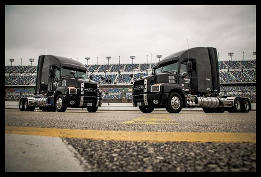 Mack Trucks has provided a lineup of its new Mack Anthem® 70-inch Stand Up sleeper models to NASCAR