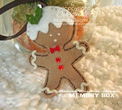 gingerbread ornaments in felt boy