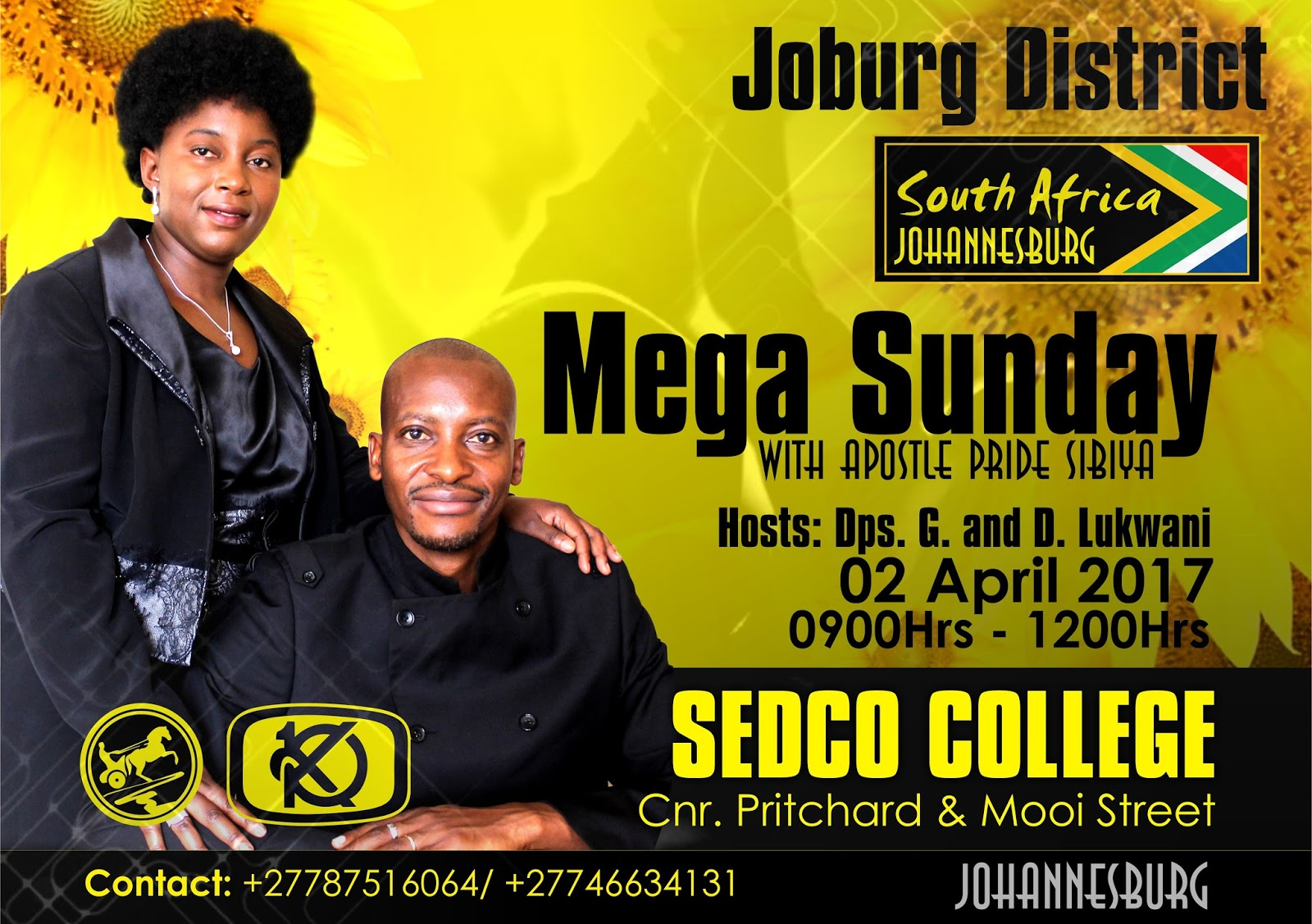 Apostle Pride Sibiya Will Be Ministering In Rustenburg and Johannesburg - South Africa Back To God