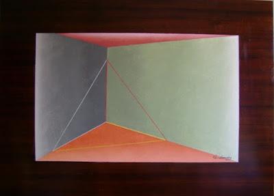 Pintura sobre  madeira, criação de Elma Carneiro