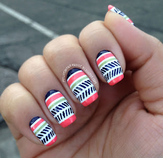 Spring-Tribal-Nail-Art