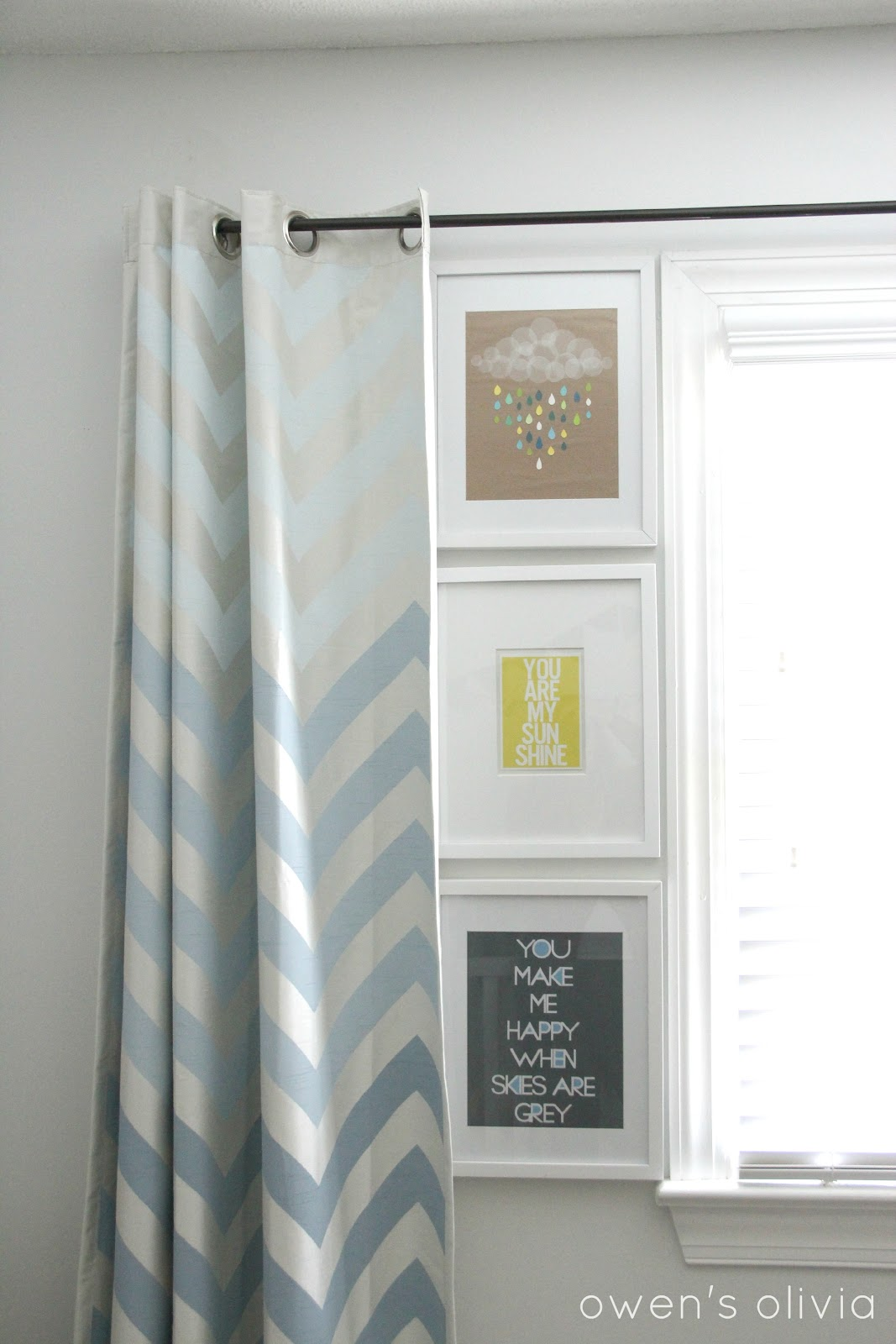 Boys Nursery Curtains Ombre Chevron Curtains In Boys Nursery