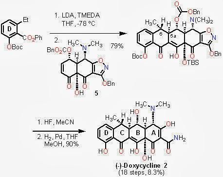 小小科學實驗室: 抗生素介紹 II:四環黴素(Tetracycline)-嶄新的四環黴素合成方法