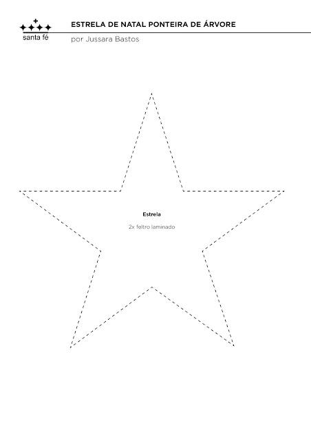 Molde De Estrela Ponteira De Arvore De Natal Para Imprimir