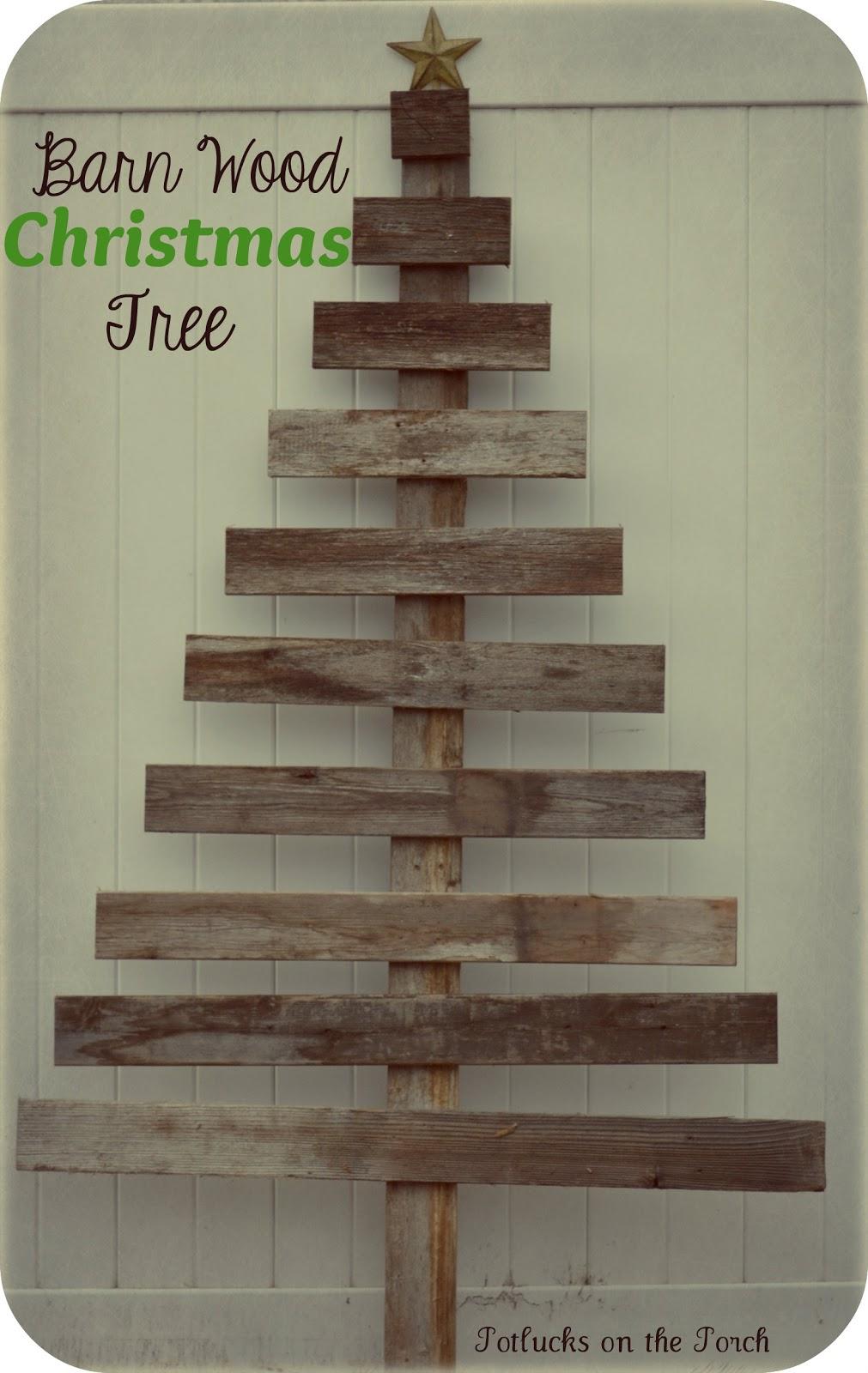 Potlucks on the Porch: Barn Wood Christmas Tree