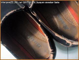 bahagian kusyen kasut jenis loafer berjenama Bata Malaysia