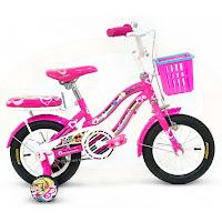 Sepeda Anak Wimcycle Barbie AF 12 Inci Lisensi