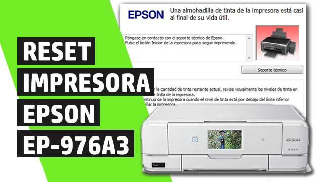 Cómo resetear almohadillas impresora Epson EP976A3