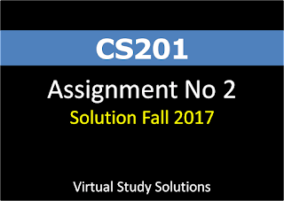 CS201 Assignment No 2 Solution Fall 2017