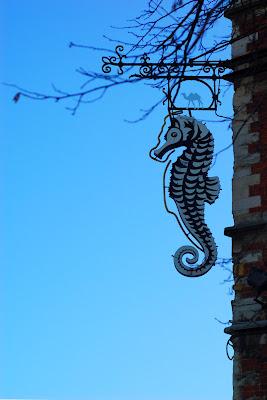 Le Chameau Bleu - Hippocampe Détail de Bruxelles Belgique