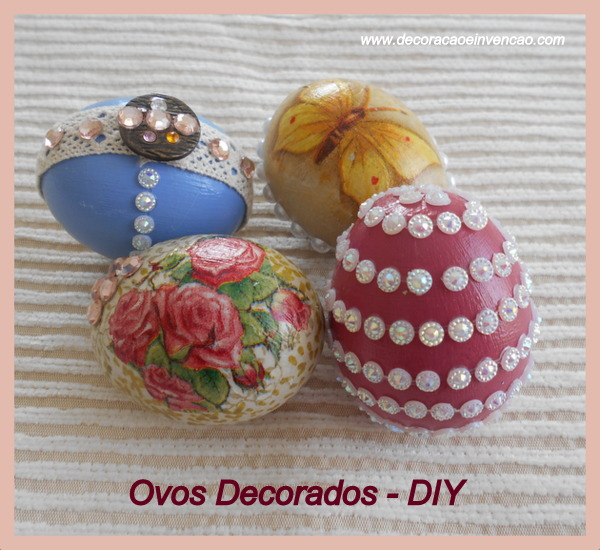 como decorar ovos