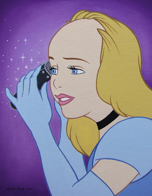 Cinderella as Britney Spears shaving head.