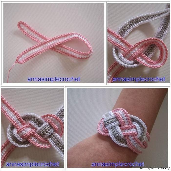 Ergahandmade Crochet Bracelet Free Pattern Step By Step
