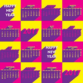2017カレンダー無料テンプレート166