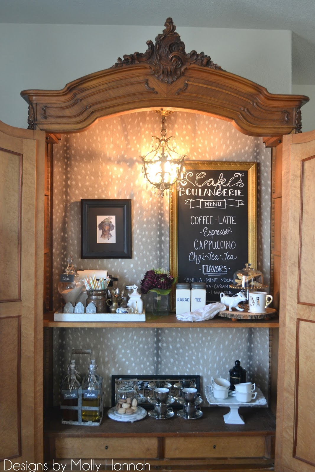 The Poor Sophisticate Espresso Bar Armoire Part 3