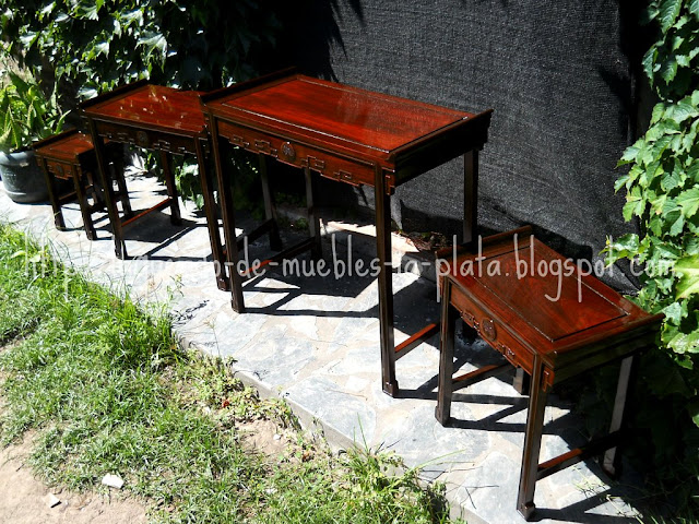 Lustre tradicional con goma laca muebles chinos