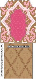 Retro Pink and Brown: Free Printable Quinceanera Party Printables.